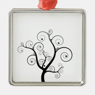 Tree with hearts christmas ornament