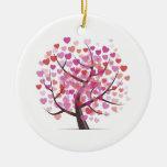 Tree with Hearts Round Ceramic Decoration