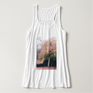 Tree with pink leaves pretty colours tank top