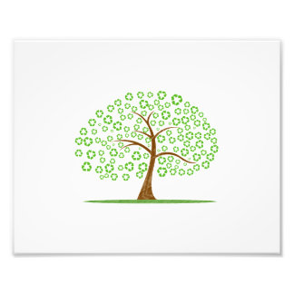 tree with recycle for leaves eco design.png photo print