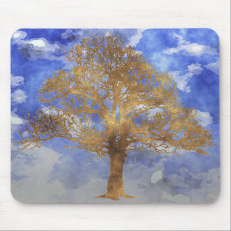 TREE WITH SKY MOUSE PAD