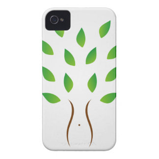Tree with slim figure showing weight loss iPhone 4 cover