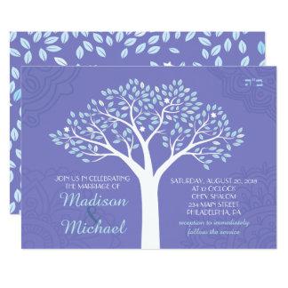 TREE WITH STARS Jewish Wedding Invitation