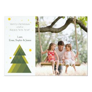 Tree with Stars Photo Holiday Card 13 Cm X 18 Cm Invitation Card