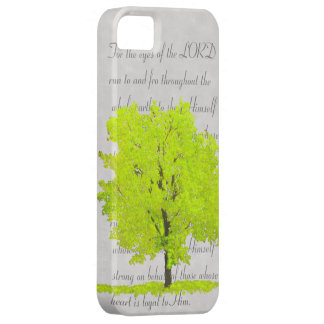 Tree with verse iPhone 5 cover