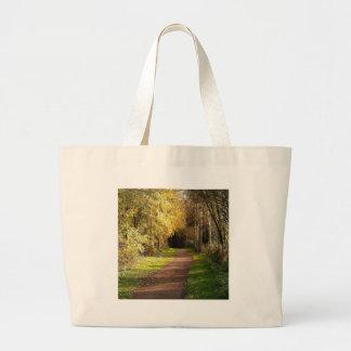 Tree Woods In The Way Jumbo Tote Bag