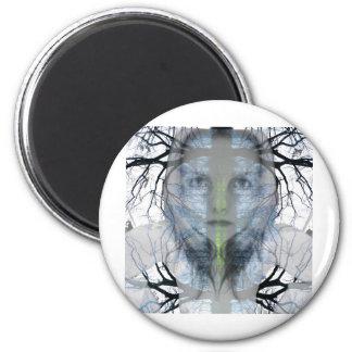 treeface 6 cm round magnet