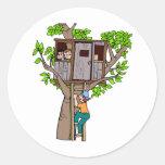 Treehouse Round Sticker
