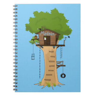 Treehouse Spiral Notebook Diary