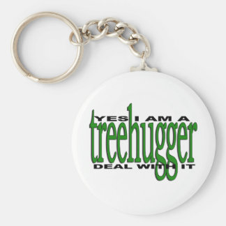 Treehugger Pride Basic Round Button Key Ring