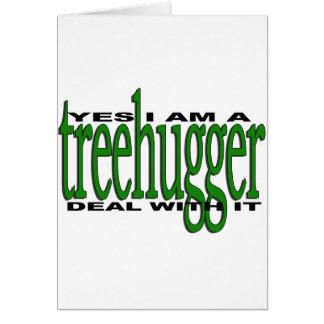Treehugger Pride Greeting Card