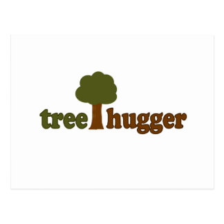 Treehugger (Tree) Postcard