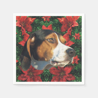 Treeing Walker Coonhound Christmas Party Disposable Serviette