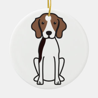 Treeing Walker Coonhound Dog Cartoon Christmas Ornament