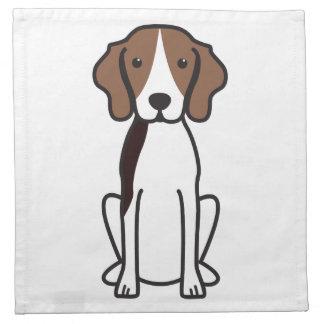 Treeing Walker Coonhound Dog Cartoon Napkin