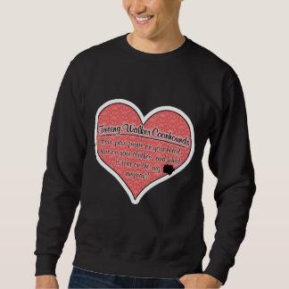 Treeing Walker Coonhound Paw Prints Dog Humor Sweatshirt