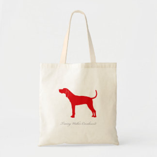 Treeing Walker Coonhound Tote Bag (red)