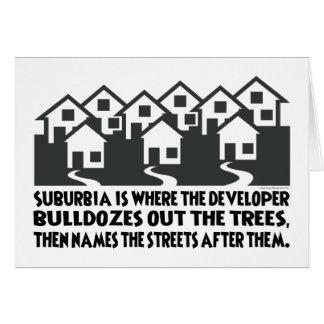 Treeless Suburbia Greeting Card