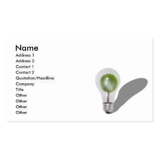 TreeLightbulb062210shadows, Name, Address 1, Ad... Pack Of Standard Business Cards