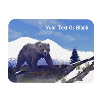 Treeline Grizzly Rectangular Photo Magnet