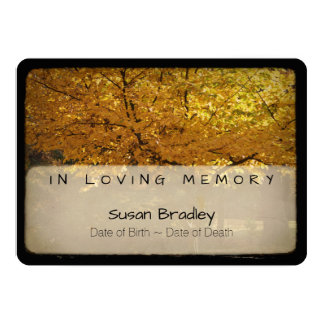 Trees 2 Vintage Memorial Sympathy Thank You 8 13 Cm X 18 Cm Invitation Card