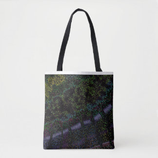 Trees alley tote bag