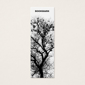 Trees and birds bookmark mini business card