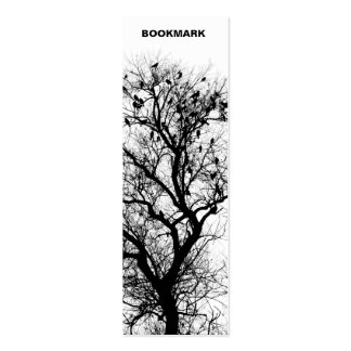 Trees and birds bookmark pack of skinny business cards