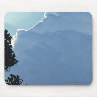 Trees and clouds mouse pad