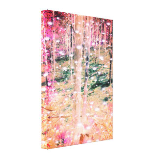 Trees and Fairy's Canvas Print