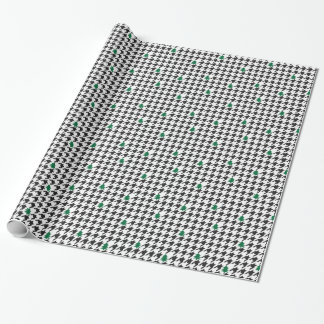 Trees and Houndstooth Wrapping Paper