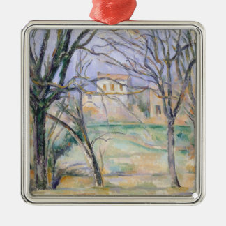 Trees and houses, 1885-86 christmas ornament