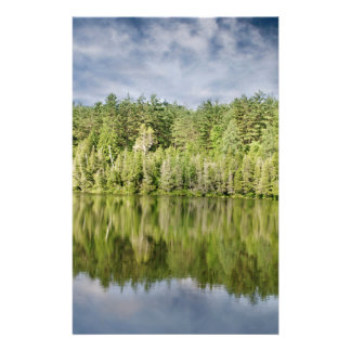 Trees and Lake Personalized Stationery