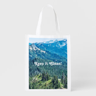 Trees and  Ridges Reusable Grocery Bag