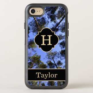 Trees And Sky Monogram With Name OtterBox Symmetry iPhone 8/7 Case