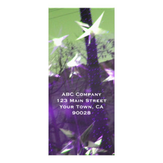 Trees and Stars Abstract Full Color Rack Card