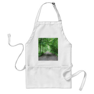trees and street  in the forest standard apron