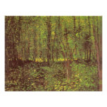 Trees and Undergrowth by van Gogh, Vintage Art Personalised Invite