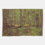 Trees and Undergrowth by van Gogh, Vintage Art Towels