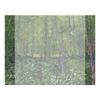 Trees and Undergrowth by Vincent Van Gogh Custom Flyer