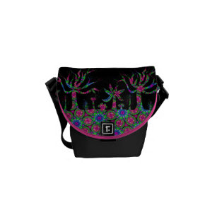 Trees at Night Messenger Bag