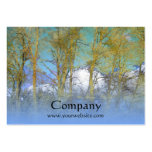 Trees Blue Gold Business Card