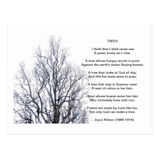 Trees, by Joyce Kilmer Postcard