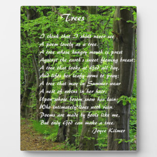 Trees by: Joyce Klimer Plaque
