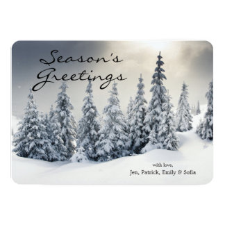 Trees Covered With Hoarfrost And Snow 13 Cm X 18 Cm Invitation Card
