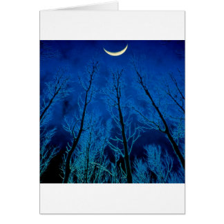 Trees Eerie Silence Greeting Card