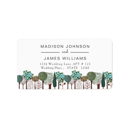 Trees Forest Woodland | Wedding | Address Labels