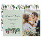 Trees Forest Woodland   Wedding   Thank you Card