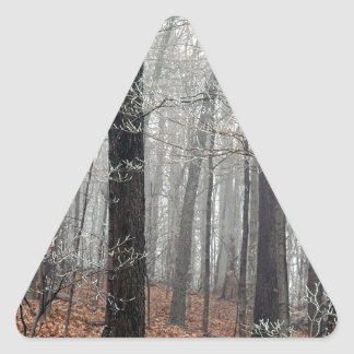 Trees Frost Triangle Sticker