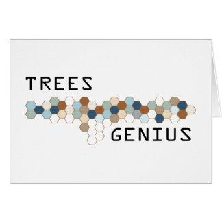 Trees Genius Greeting Card